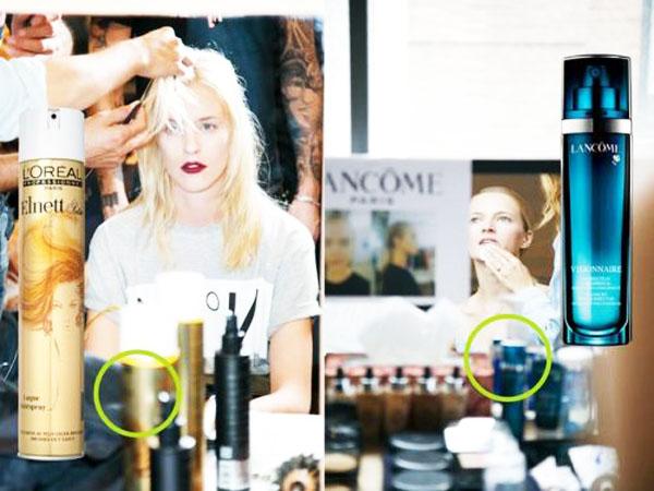 看模特秀场后台用的美妆